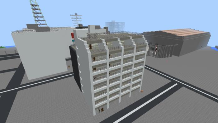 都市再現に最適!都会でよく見る オフィスビル の作り方を紹介します。