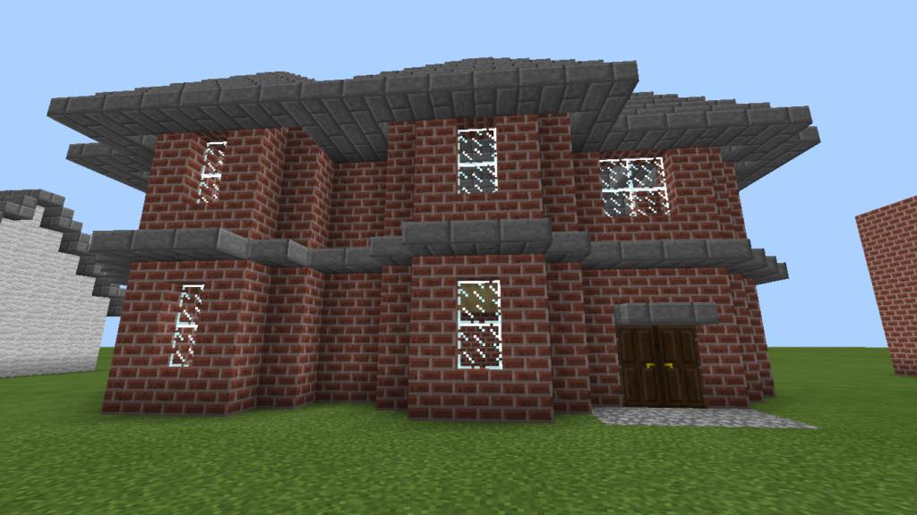 minecraft-brick-house-mcbenri-0001-1024x576 レンガ を使っておしゃれな 家 が作れる!?レンガ建築3選