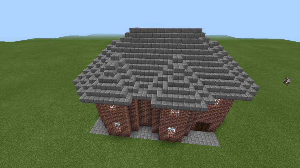 minecraft-brick-house-mcbenri-0010-1024x576 レンガ を使っておしゃれな 家 が作れる!?レンガ建築3選