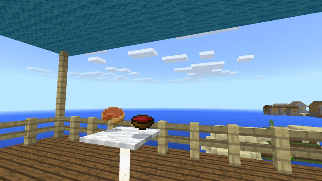 minecraft-house-Mediterranean-taste-02324-1024x576 ー 地中海風 の家で、夏の海を1人占めできたらー 洋風建築 講座