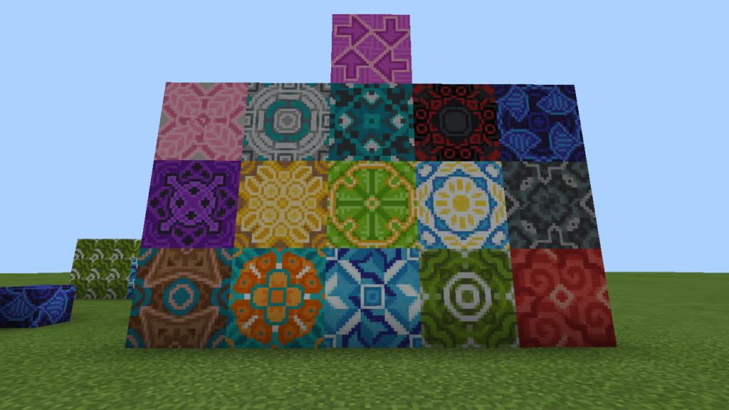 minecraft-pe-apdate-1.1-_09-1024x576 【新アプデ】 建築には必須 ブロック コンクリート 、 彩釉ブロック を解説してみる。【MCPE1.1】