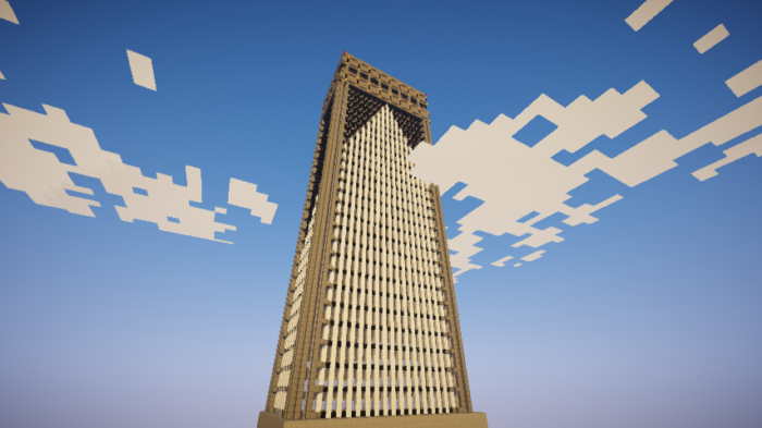 【マイクラ】 巨大ビル をたったの1時間で作る方法、公開中。