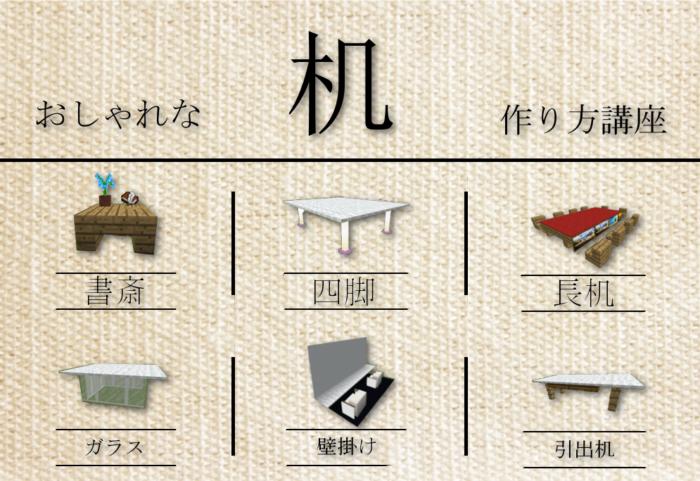 【インテリア】自宅をおしゃれにする 机 7個、作り方紹介!