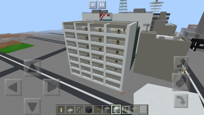 minecraft-building_19 都市再現に最適!都会でよく見る オフィスビル の作り方を紹介します。