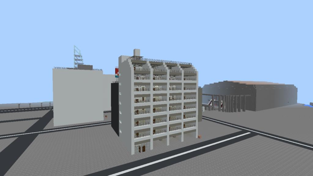 minecraft-building_32-1024x576 都市再現に最適!都会でよく見る オフィスビル の作り方を紹介します。