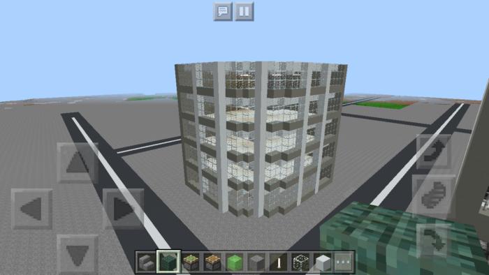 minecraft-quarter-circle-building_07 四半円のビル の作り方を紹介します。ビル建築講座