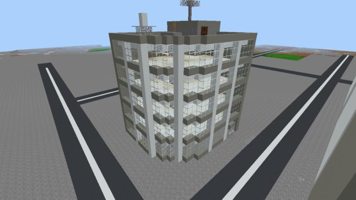 四半円のビル の作り方を紹介します。ビル建築講座