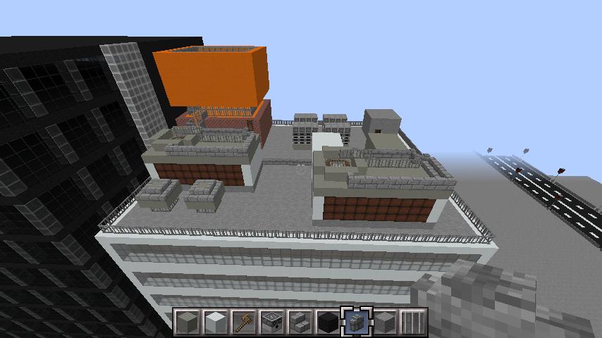 minecraft-rooftop_02 屋上 設備を整えれば、ビルはもっとリアルになる!外装講座 【 マイクラ 】