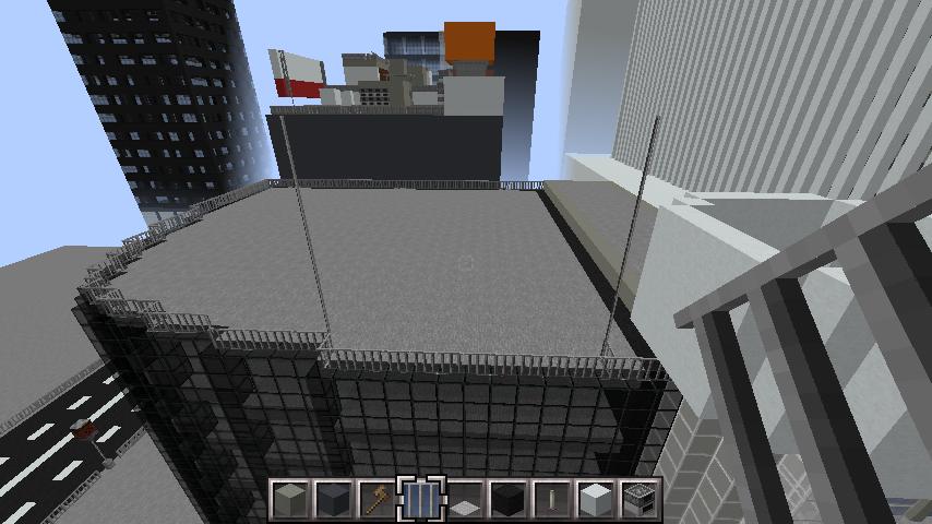 minecraft-rooftop_07 屋上 設備を整えれば、ビルはもっとリアルになる!外装講座 【 マイクラ 】