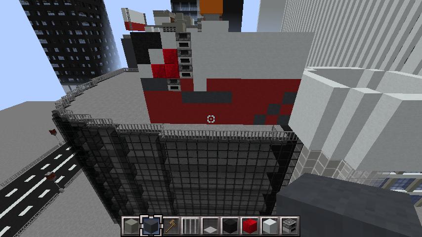 minecraft-rooftop_09 屋上 設備を整えれば、ビルはもっとリアルになる!外装講座 【 マイクラ 】