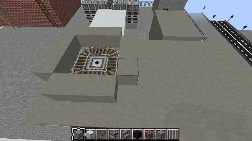 minecraft-rooftop_27 屋上 設備を整えれば、ビルはもっとリアルになる!外装講座 【 マイクラ 】