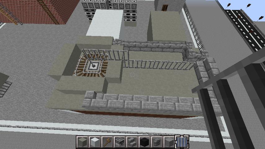 minecraft-rooftop_28 屋上 設備を整えれば、ビルはもっとリアルになる!外装講座 【 マイクラ 】