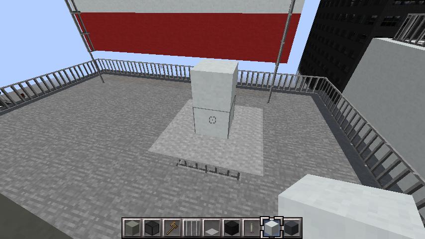 minecraft-rooftop_30 屋上 設備を整えれば、ビルはもっとリアルになる!外装講座 【 マイクラ 】