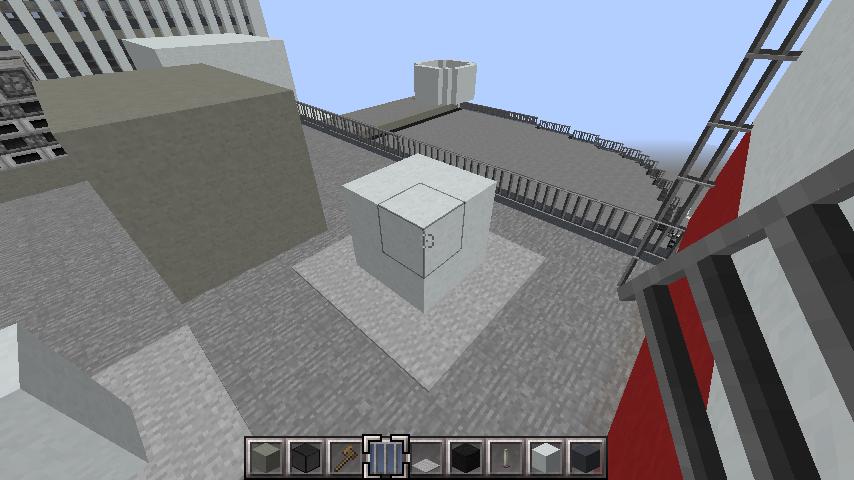 minecraft-rooftop_31 屋上 設備を整えれば、ビルはもっとリアルになる!外装講座 【 マイクラ 】