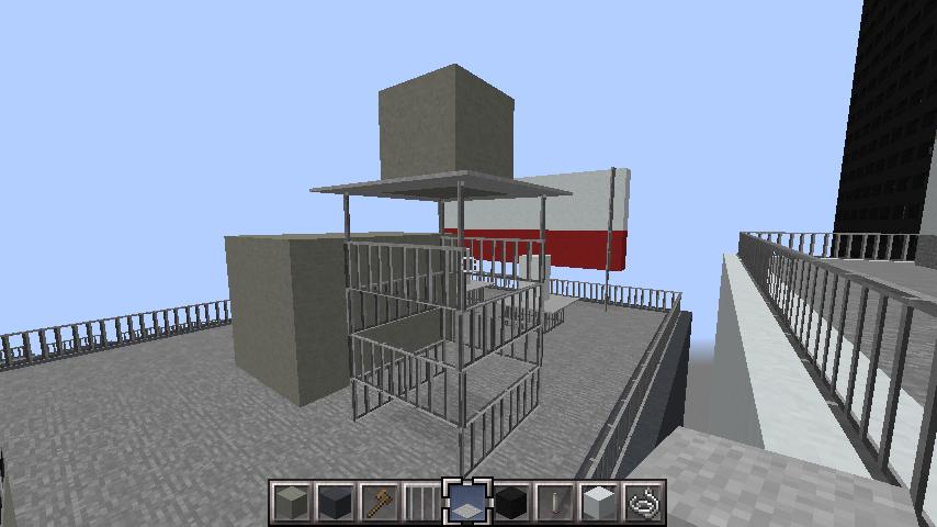 minecraft-rooftop_36 屋上 設備を整えれば、ビルはもっとリアルになる!外装講座 【 マイクラ 】