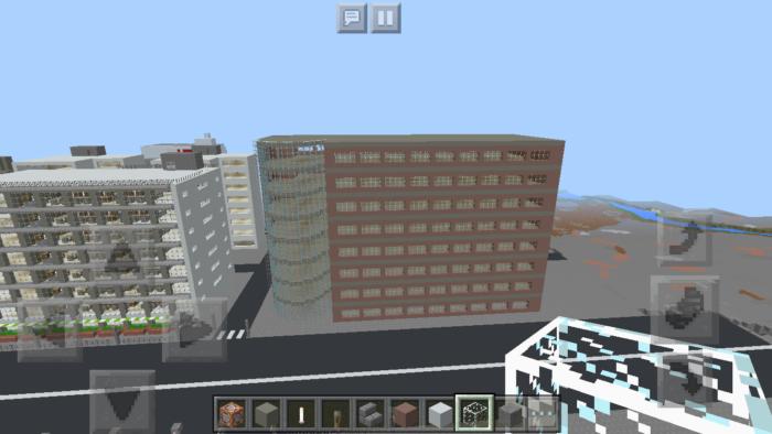 minecraft-shopping-mall_17 ショッピングモール は都市づくりに必須!ビルと駐車場の作り方教えます。【 マイクラ 】