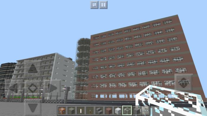 minecraft-shopping-mall_18 ショッピングモール は都市づくりに必須!ビルと駐車場の作り方教えます。【 マイクラ 】