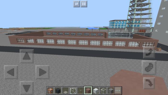 minecraft-shopping-mall_7 ショッピングモール は都市づくりに必須!ビルと駐車場の作り方教えます。【 マイクラ 】