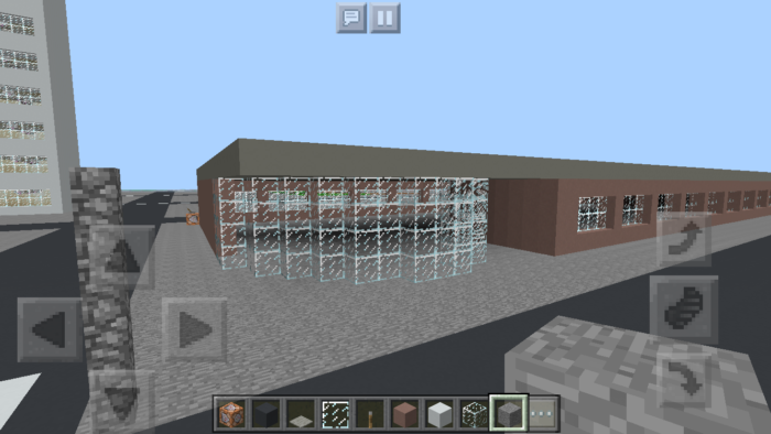 minecraft-shopping-mall_8 ショッピングモール は都市づくりに必須!ビルと駐車場の作り方教えます。【 マイクラ 】