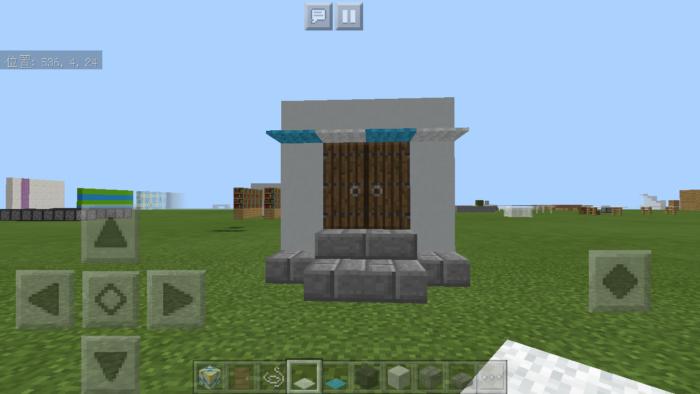 minecraft-door_23 ドア 周りをオシャレにする! 玄関 のデザイン16個を一気に紹介します。|マイクラ家図鑑
