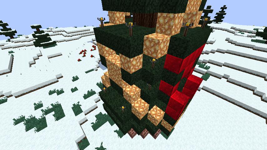 minecraft-merrychristmas_26 クリスマス の装飾ならおまかせ!クリスマスツリーから家の飾りつけまで全部お教えします。-マイクラ家図鑑