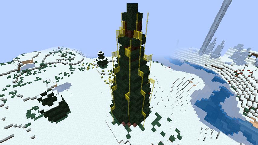 minecraft-merrychristmas_31 クリスマス の装飾ならおまかせ!クリスマスツリーから家の飾りつけまで全部お教えします。-マイクラ家図鑑