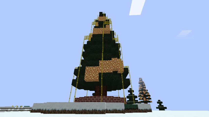 minecraft-merrychristmas_32 クリスマス の装飾ならおまかせ!クリスマスツリーから家の飾りつけまで全部お教えします。-マイクラ家図鑑
