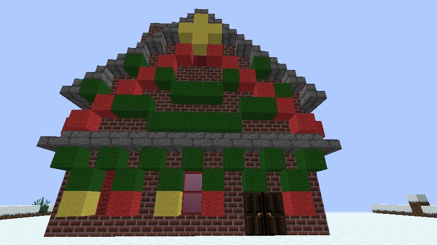 minecraft-merrychristmas_39 クリスマス の装飾ならおまかせ!クリスマスツリーから家の飾りつけまで全部お教えします。-マイクラ家図鑑