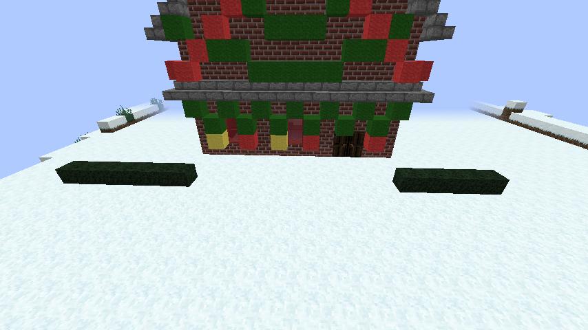 minecraft-merrychristmas_40 クリスマス の装飾ならおまかせ!クリスマスツリーから家の飾りつけまで全部お教えします。-マイクラ家図鑑