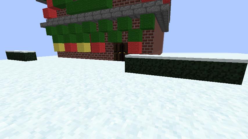 minecraft-merrychristmas_41 クリスマス の装飾ならおまかせ!クリスマスツリーから家の飾りつけまで全部お教えします。-マイクラ家図鑑