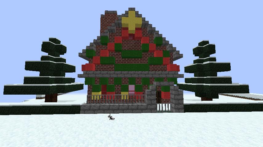 minecraft-merrychristmas_44 クリスマス の装飾ならおまかせ!クリスマスツリーから家の飾りつけまで全部お教えします。-マイクラ家図鑑