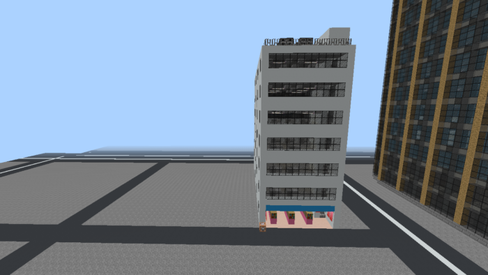 minecraft-city_26 大都市 を一瞬で作る方法を紹介。ビルをマイクラで建てまくる。【コマンド】 | マイクラ家図鑑