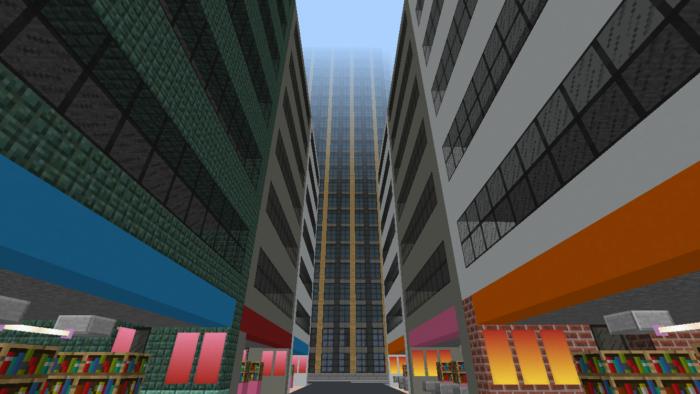 minecraft-city_30 大都市 を一瞬で作る方法を紹介。ビルをマイクラで建てまくる。【コマンド】 | マイクラ家図鑑