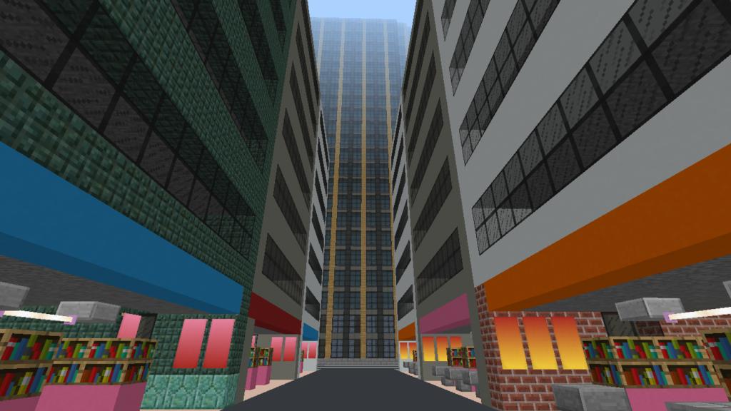 minecraft-city_31-1024x576 大都市 を一瞬で作る方法を紹介。ビルをマイクラで建てまくる。【コマンド】 | マイクラ家図鑑