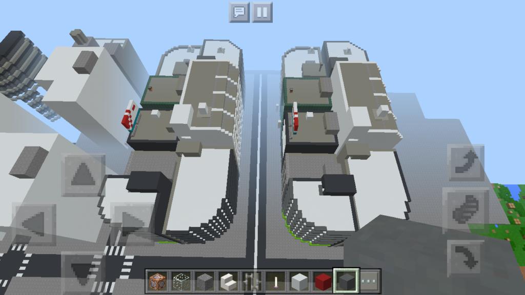 minecraft-city_41-1024x576 大都市 を一瞬で作る方法を紹介。ビルをマイクラで建てまくる。【コマンド】 | マイクラ家図鑑