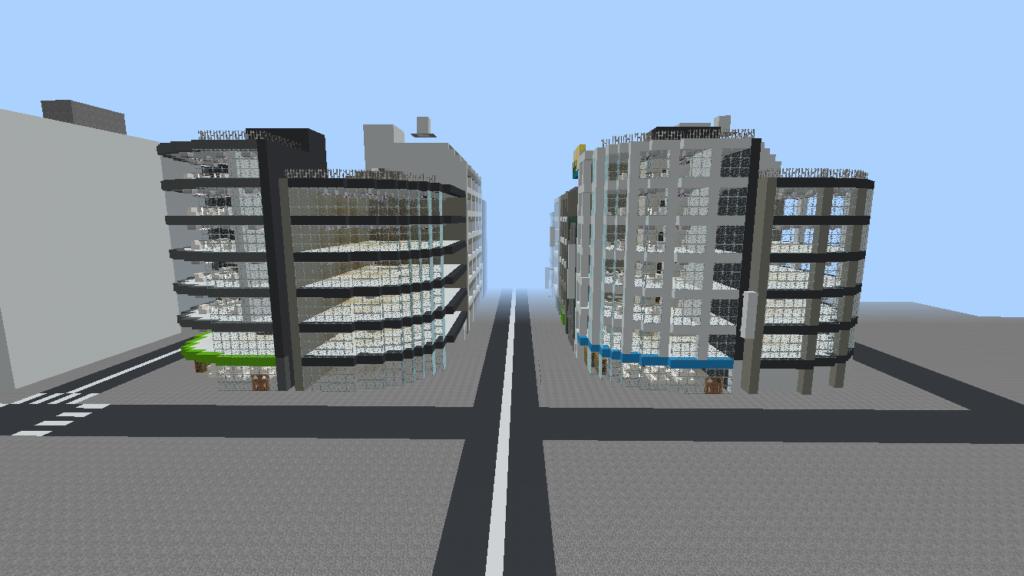minecraft-city_47-1024x576 大都市 を一瞬で作る方法を紹介。ビルをマイクラで建てまくる。【コマンド】 | マイクラ家図鑑