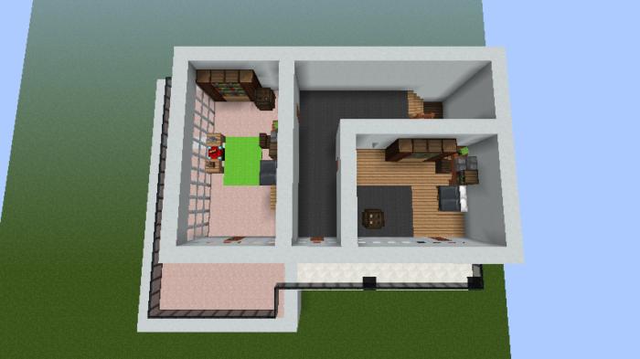 minecraft-house_33 【マイクラ】家を設計図からオシャレに作る!最新の作り方を大公開!