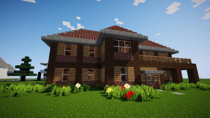 minecraft-survival_60 【マイクラ】家を設計図からオシャレに作る!最新の作り方を大公開!