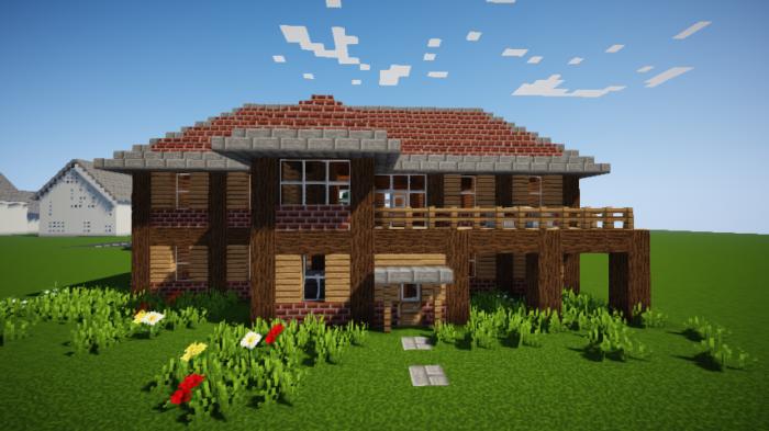 minecraft-survival_63 【マイクラ】家を設計図からオシャレに作る!最新の作り方を大公開!