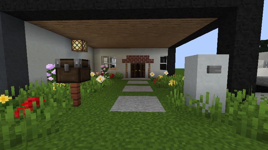 minecraft-house_104 現代建築 をマイクラでおしゃれに作れる!現代建築講座【設計図】