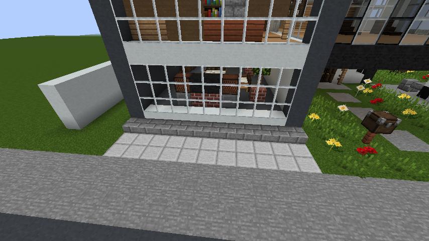 minecraft-house_110 現代建築 をマイクラでおしゃれに作れる!現代建築講座【設計図】