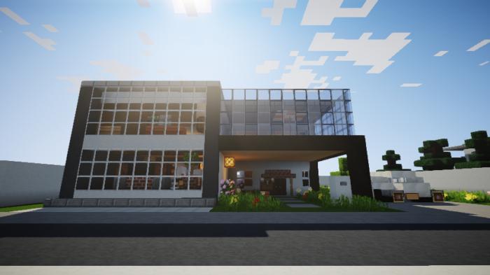 minecraft-house_114 現代建築 をマイクラでおしゃれに作れる!現代建築講座【設計図】