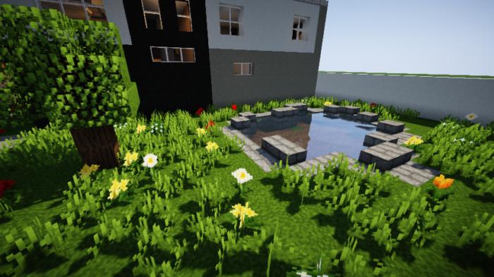 minecraft-house_117 現代建築 をマイクラでおしゃれに作れる!現代建築講座【設計図】