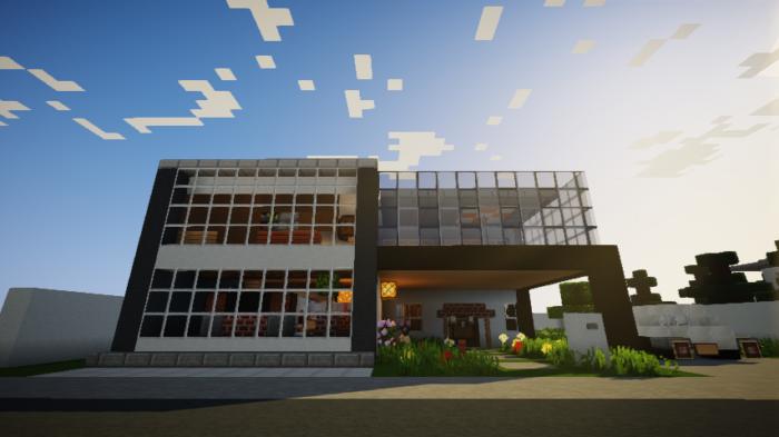 現代建築 をマイクラでおしゃれに作れる!現代建築講座【設計図】