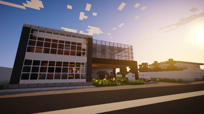 minecraft-house_127 現代建築 をマイクラでおしゃれに作れる!現代建築講座【設計図】