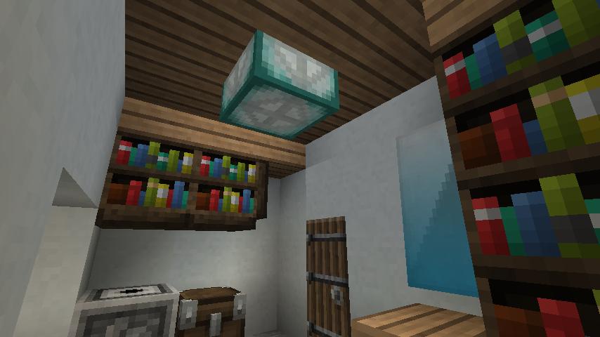 minecraft-house_26 現代建築 をマイクラでおしゃれに作れる!現代建築講座【設計図】