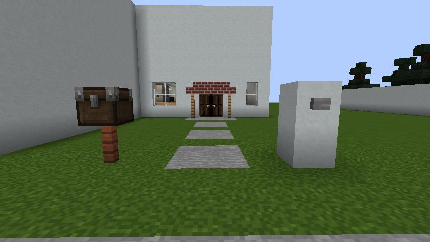 minecraft-house_35 現代建築 をマイクラでおしゃれに作れる!現代建築講座【設計図】