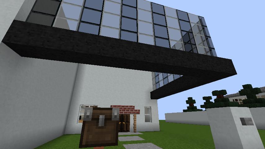 minecraft-house_38 現代建築 をマイクラでおしゃれに作れる!現代建築講座【設計図】