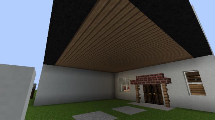 minecraft-house_39 現代建築 をマイクラでおしゃれに作れる!現代建築講座【設計図】