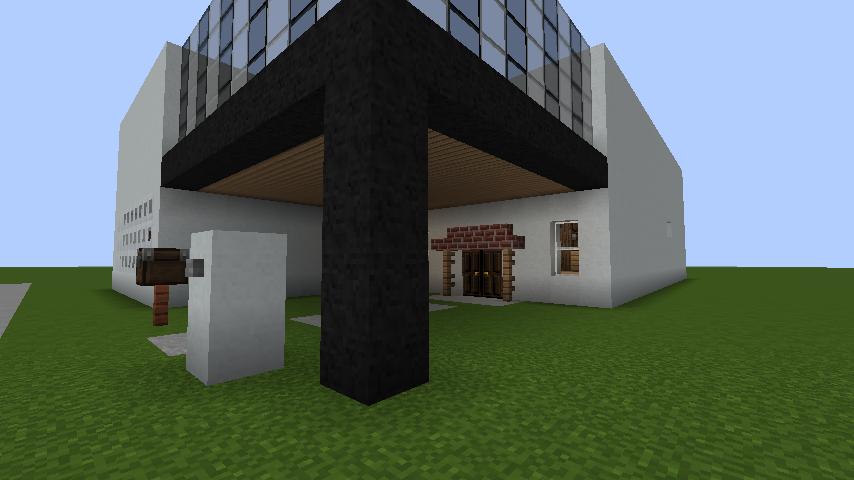 minecraft-house_40 現代建築 をマイクラでおしゃれに作れる!現代建築講座【設計図】